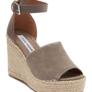 Steve Madden Josey Espadrille Perforated Sandals